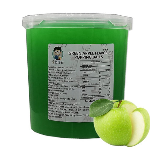 GreenApple Flavor Popping Balls(3.2kg)