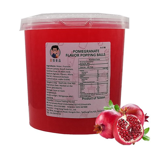 Pomegranate Flavor Popping Ball (3.2kg)