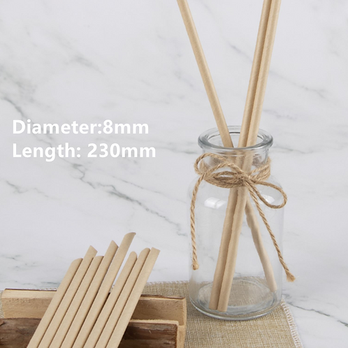 Individual wrapped PAPER straws (8MM*230MM) (250pcs)