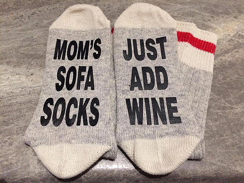 Mom's Sofa Socks Just Add Wine