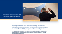 University of Mary Online Webpage