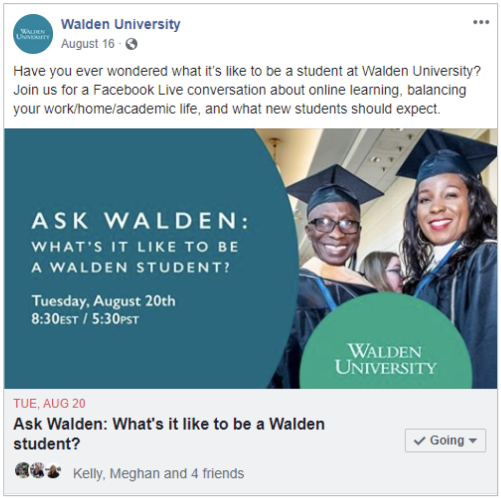 Walden University Social Post