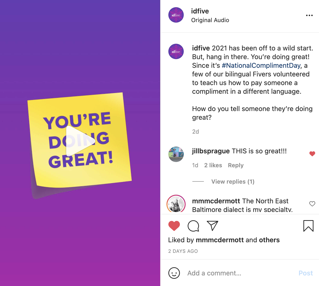 idfive Social Media Strategy & Creative Direction