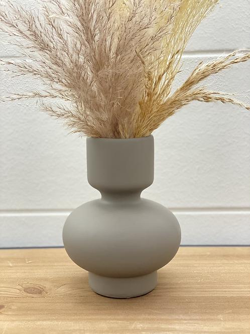Vase Wave grau S