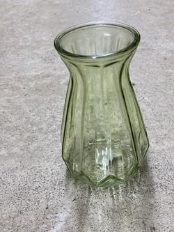 Glasvase mittelgroß grün