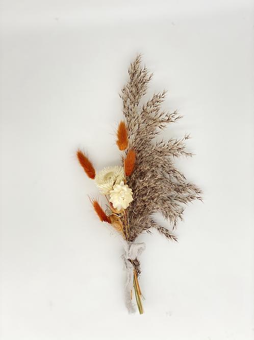 Minibouquet Trockenblumen / braun, ocker, beige