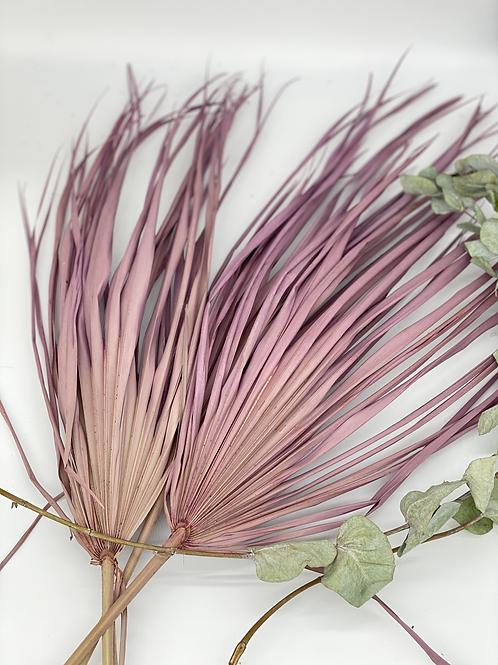 Palmblatt flieder / 1 Stück