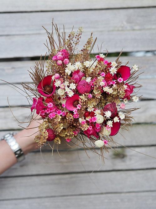 Trockenblumenstrauß Pinky Gr.M