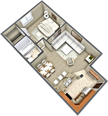 apartment c, 3d floor plan 45 degrees.pn