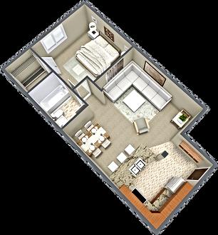 apartment c, 3d floor plan 45 degrees.pn