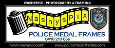 Police Medal Frames