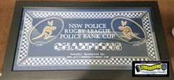 Police Bank Cup Frame