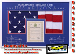 USS Arizona Flag Combo 30-5-2018