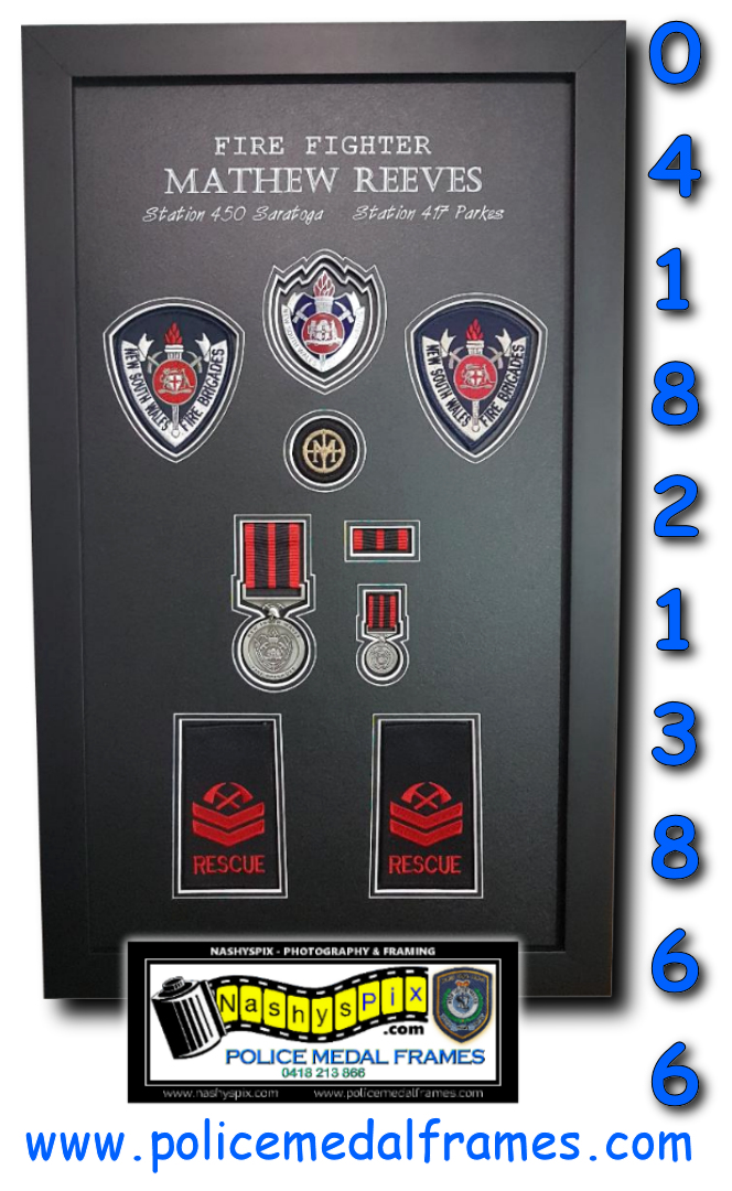 Mathew Reeves Fire Medal Frame 7-4-2020