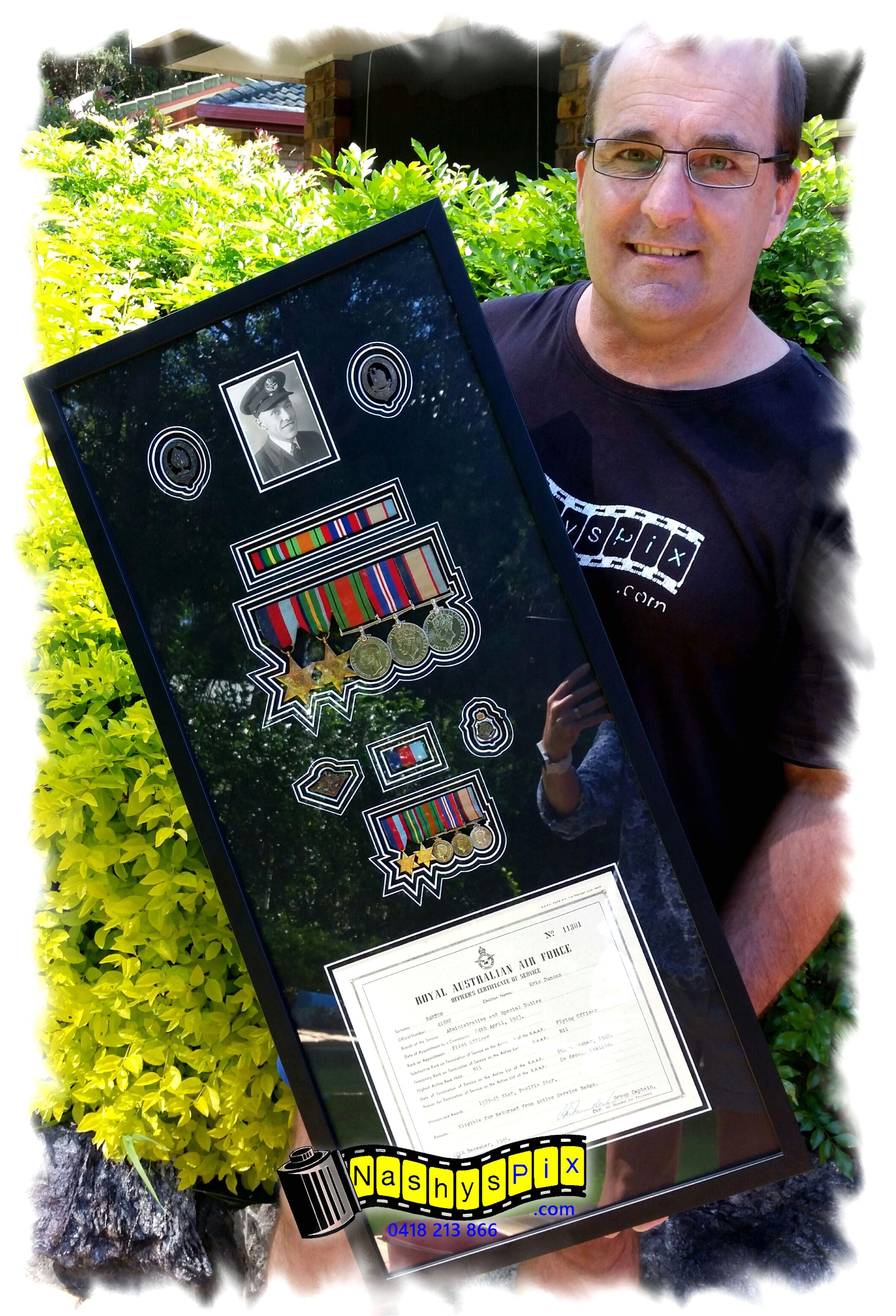 Don Bardons Dad Medal Frame 14-3-2016 Co