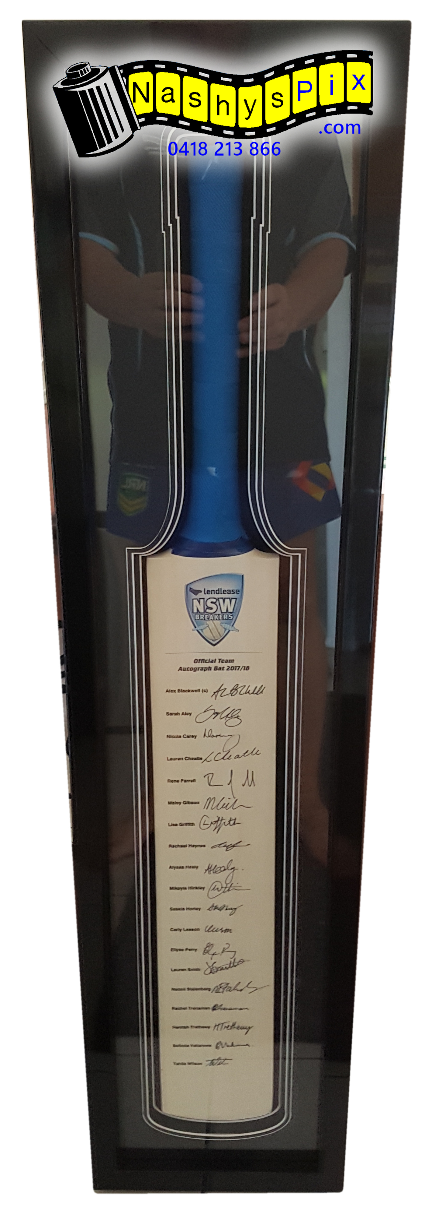 NSW Breakers Cricket Bat 12-2-2018