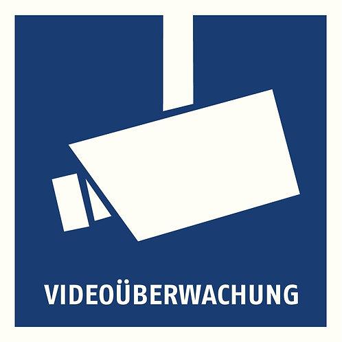 Warnaufkleber Videoüberwachung 90 x 90 mm