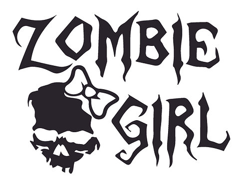 ZOMBIE GIRL Decal Sticker
