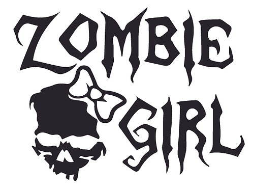 ZOMBIE GIRL Decal Sticker