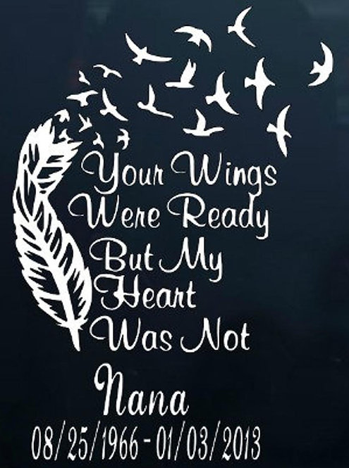 Your wings were ready feather Decal Sticker