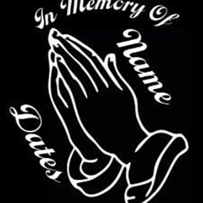 In memory of praying hands religious Decal Sticker