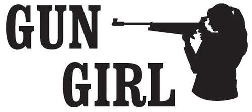 GUN GIRL Gun Decal Sticker