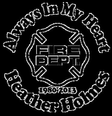Always in my heart FIRE DEPT Decal Sticker