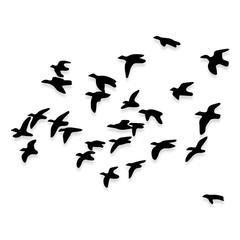 Whole Flock of Flying Geese Duck Hunting Decal Sticker