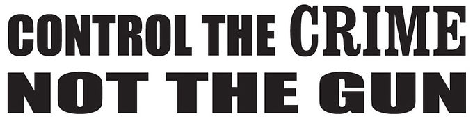 Control the crime, not the guns Decal Sticker