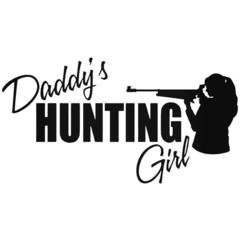 Daddy's Hunting Girl Decal Sticker
