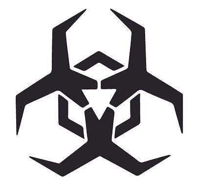 Mechanic Biohazard Alien Decal Sticker