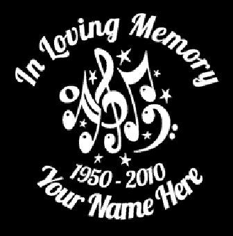 In loving memory of musical notes Decal Sticker