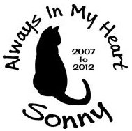 Always in my heart cat In loving memory of Decal Sticker