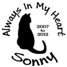 Always in my heart cat In loving memory of Decal Sticker