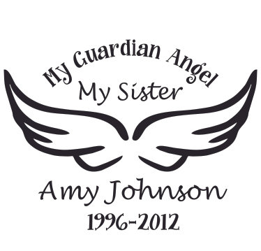 SISTER My guardian angel Decal Sticker