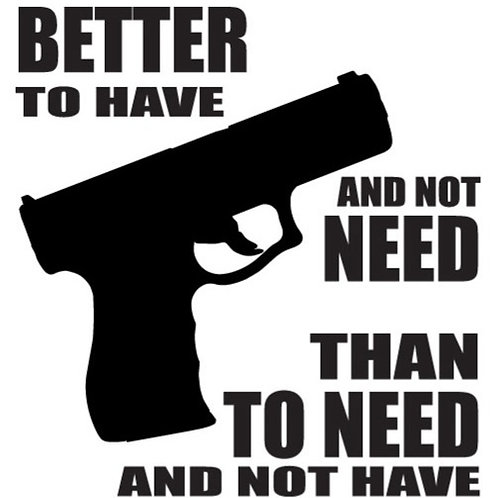 Better to have and not need... Gun Decal Sticker