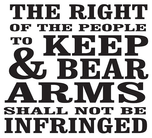 The right to keep and bear arms... Gun Decal Sticker