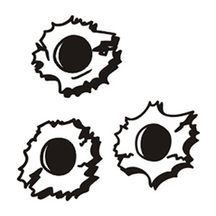 Bullet Holes Decal Sticker
