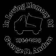 In loving memory dump truck Decal Sticker