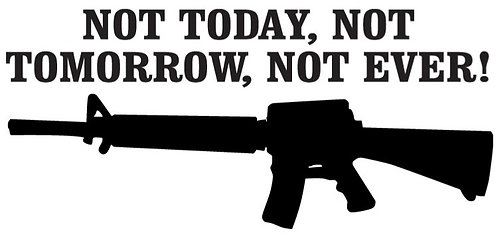 Not Today Not tomorrow Not Ever Decal Sticker