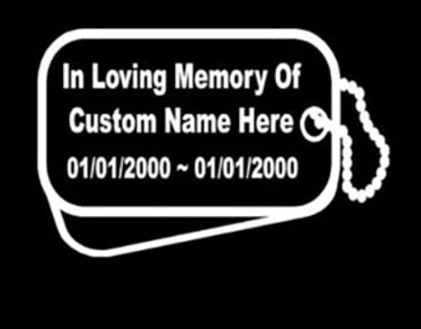 In loving memory of dog tags military Decal Sticker
