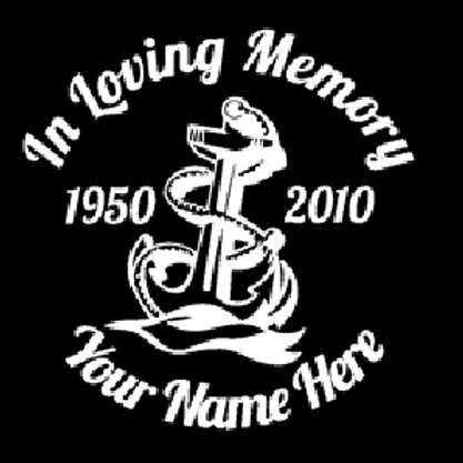 Anchor in loving memory of boating Decal Sticker