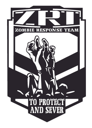 ZOMBIE RESPONSE TEAM - To protect and serve Decal Sticker