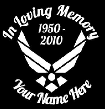 Air force in loving memory of Decal Sticker