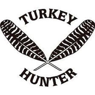 Turkey Hunter Feathers TURKEY Hunting Window Decal Sticker