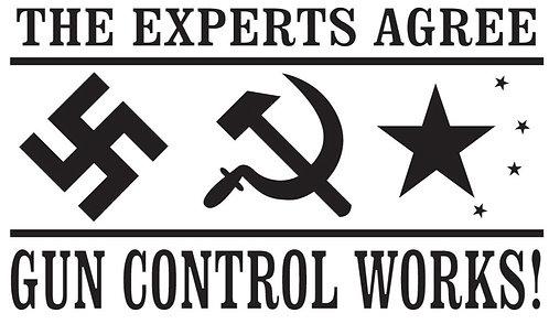 GUN CONTROL WORKS Gun Decal Sticker