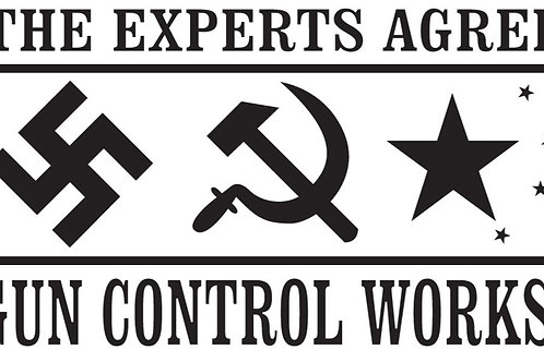 GUN CONTROL WORKS Gun Decal Sticker