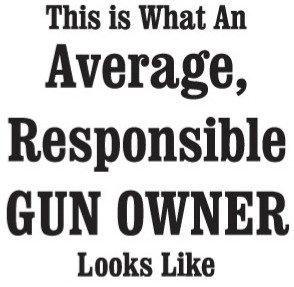 AVERAGE GUN OWNER Gun Decal Sticker