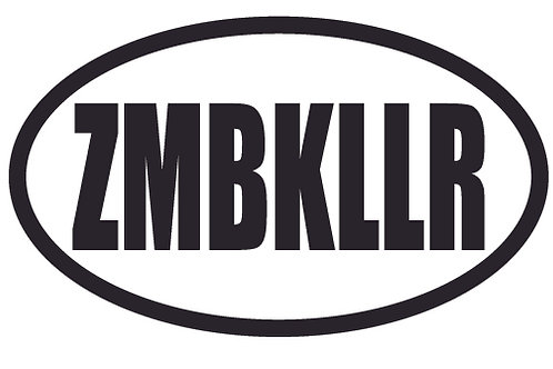 ZMBKLLR Zombie Killer Decal Sticker
