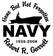 In loving memory of NAVY 3 Decal Sticker